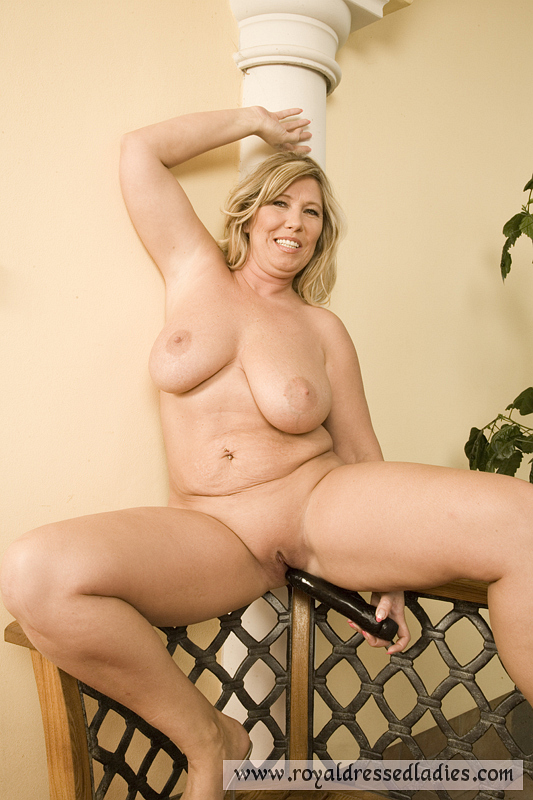 Bbw milf and her dildo