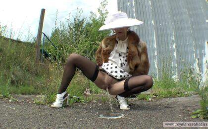 Public Piss Lady Satin Blouse Female Style - Piss in Public