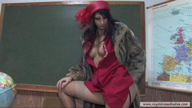 Sie fickt ihre Muschi im Klassenzimmer - RDL - Fully Clothed Pelz Sex