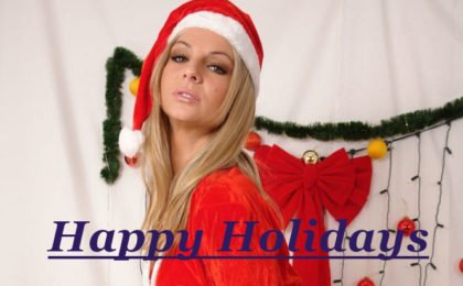 Frohe Feiertage und Froehliche Weihnachten Bunny Stript fuer Dich - RDL